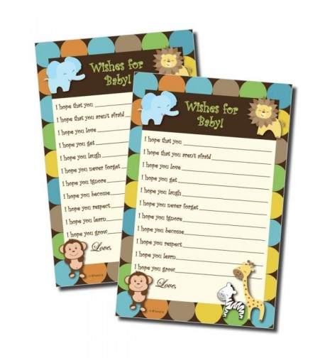 Wishes Baby Shower Jungle 50 sheets