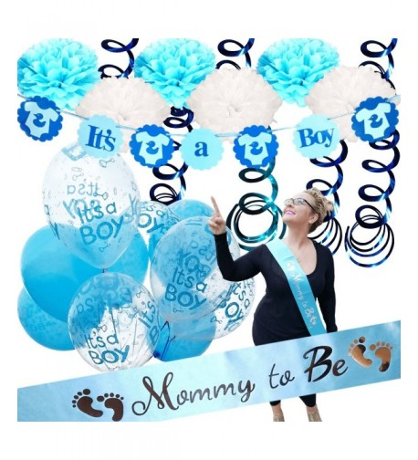 Baby Shower Decorations Boy Supplies