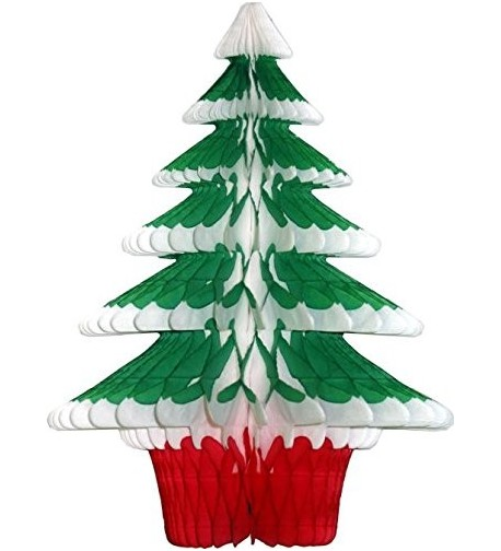 Honeycomb Tissue Frosted Christmas 3 Pack