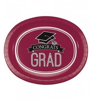 Graduation School Spirit Burgundy Plates