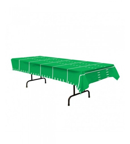 Plastic Table Football Buffet Tablecloth