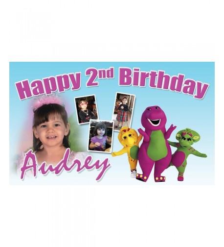 Demea Printing Barney Birthday Banner