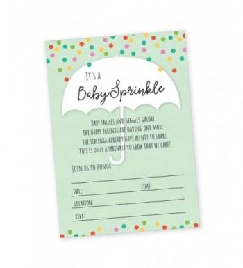 Sprinkle Shower Invitation Blank Invitations