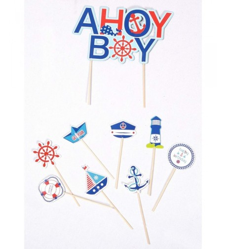 Nautical Cupcake Toppers Birthday Decoration