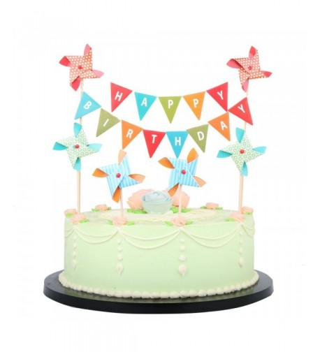 LXZS BH Birthday Topper Banner Windmill