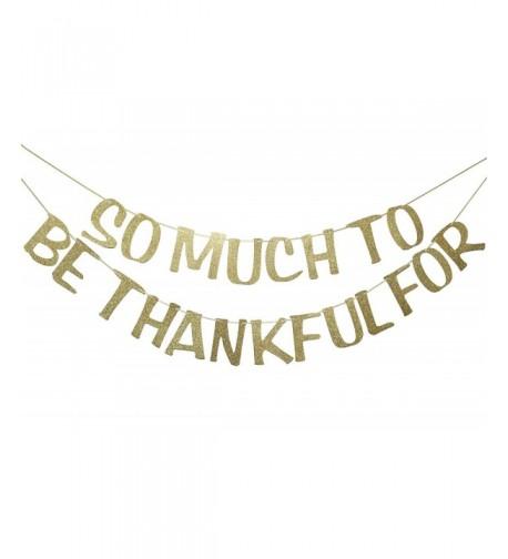 Thankful Glitter Thanksgiving Decoration Engagement