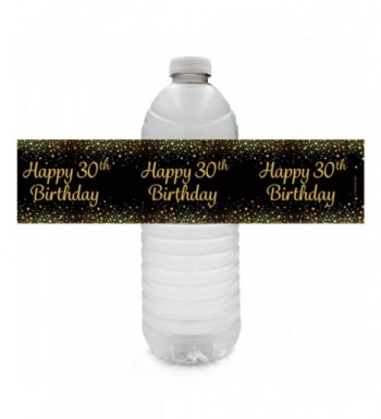 Black Birthday Party Bottle Labels