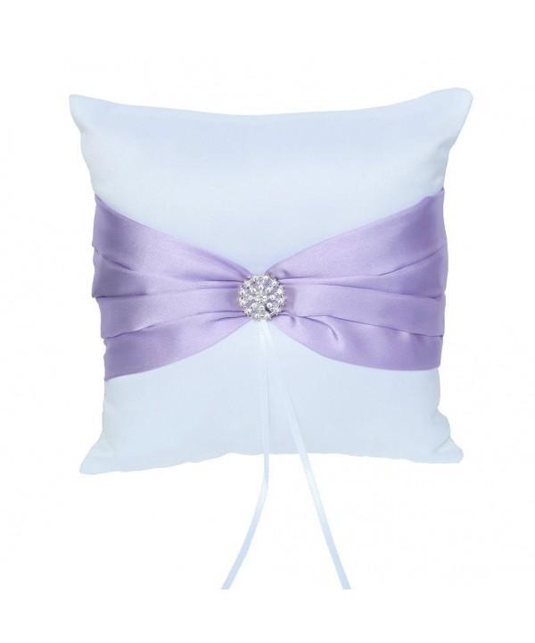 ARKSU Cushion Rhinestones Wedding Ceremony Lavender