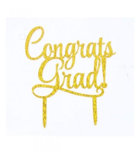 Congrats Acrylic Topper Graduation Decorations