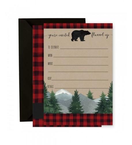 Lumberjack Invitation Envelopes Birthday Party