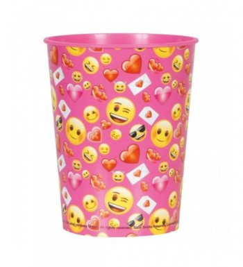 16oz Valentines Day Emoji Plastic