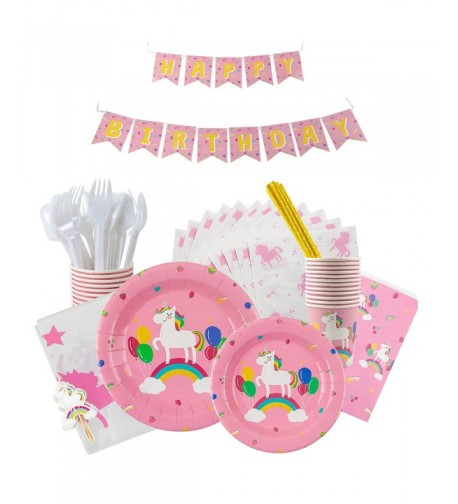 Box Playful Unicorn Birthday Decorations