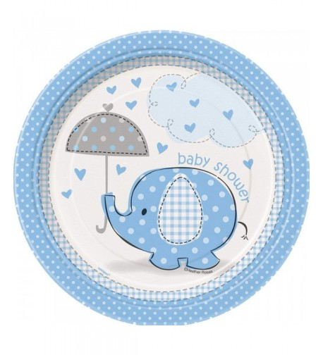 Blue Elephant Shower Dessert Plates