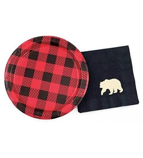 Buffalo Plaid Bear Party Set