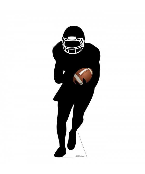 Football Player Runningback Silhouette Cardboard