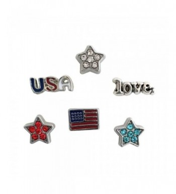 Patriotic USA Floating Locket Charms