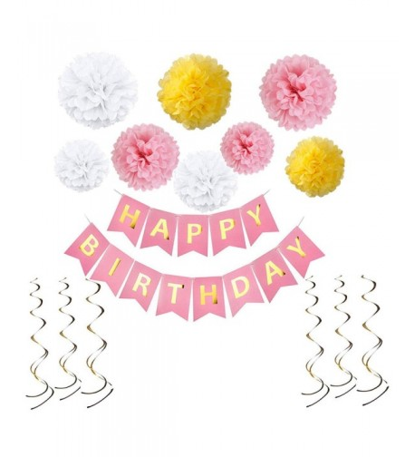 Birthday Decorations Happy Banner Supplies