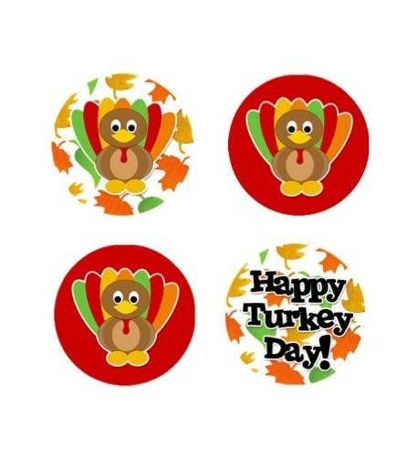 Thanksgiving Edible Cupcake Toppers Decoration