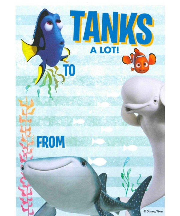 Finding Dory Thank Sheets Envelopes