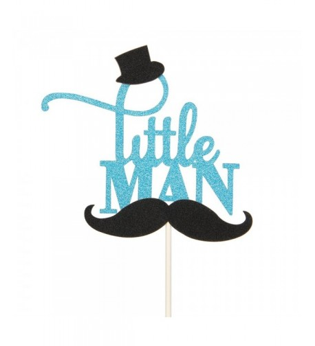 Glitter Little Mustache Birthday Decorations