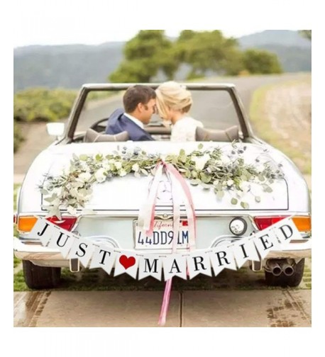 GuassLee JUST MARRIED Wedding Banner