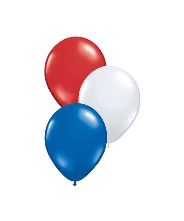 Patriotic Assortment Plain Balloons 100