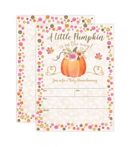 Pumpkin Shower Invitations Invitation Envelopes