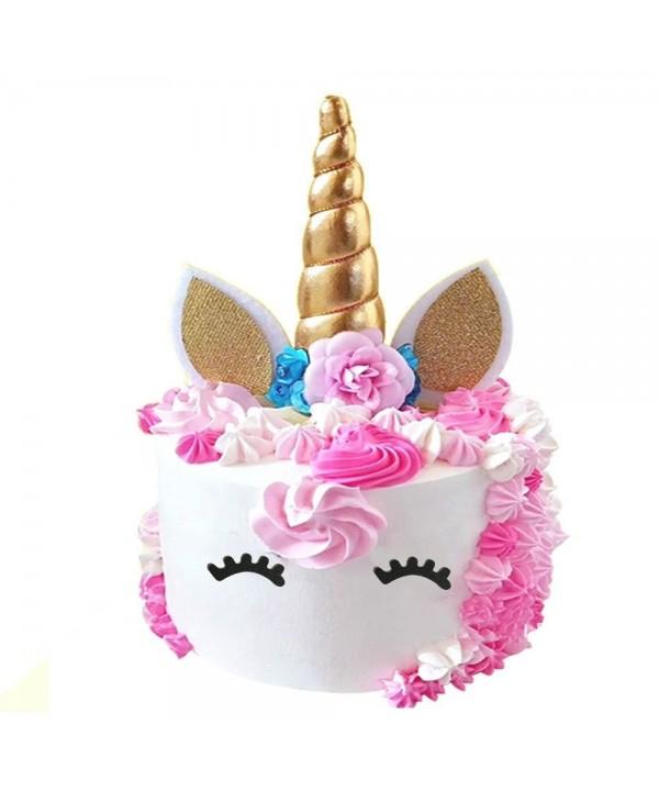 PalkSky Handmade Gold Unicorn Birthday