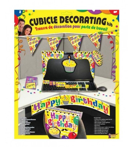 Forum Novelties Birthday Cubicle Multi Color