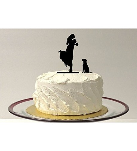 Silhouette Wedding Topper Bride Dancing