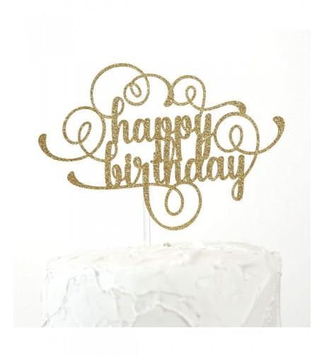 NANASUKO Happy Birthday Cake Topper
