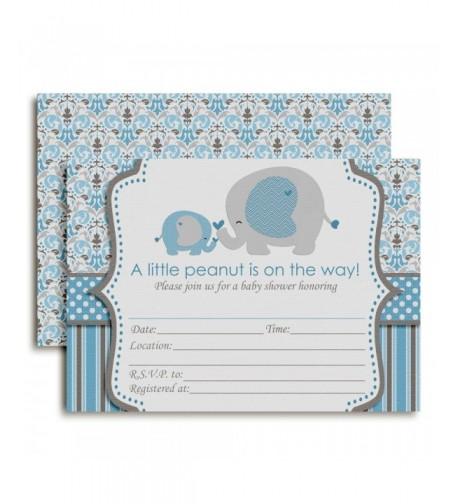 Elephant Shower Invitations Envelopes AmandaCreation