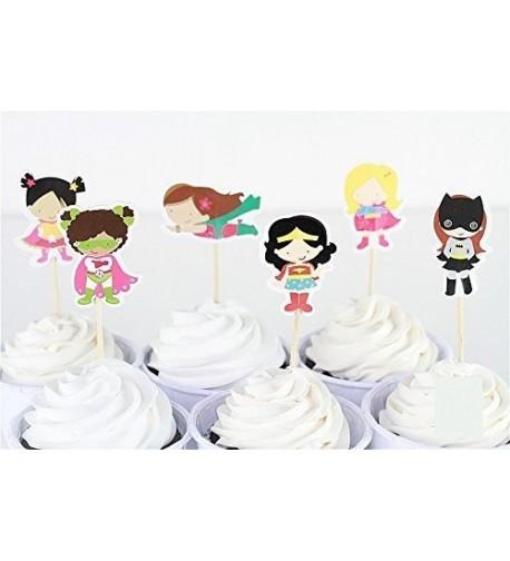 Superhero Cupcake Toppers Birthday Supplies