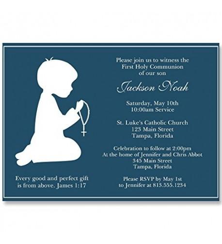 Communion Invitations Confirmation Religious Kneeling