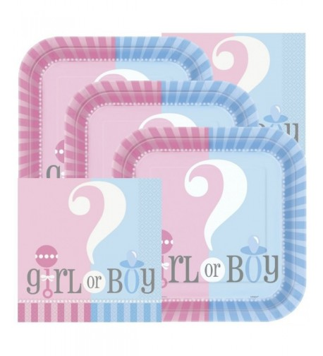 Gender Reveal Themed Shower Napkins