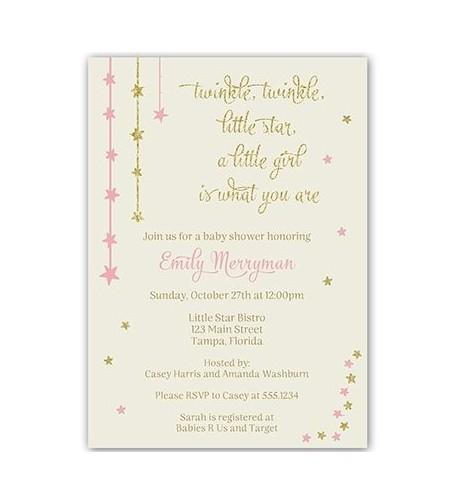 Twinkle Invitations Glitter Customized Envelopes