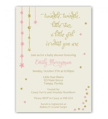 Twinkle Invitations Glitter Customized Envelopes