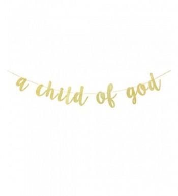 Black Glitter Child Gold Banner
