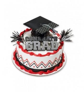 Congrats Grad Black Graduation Cake