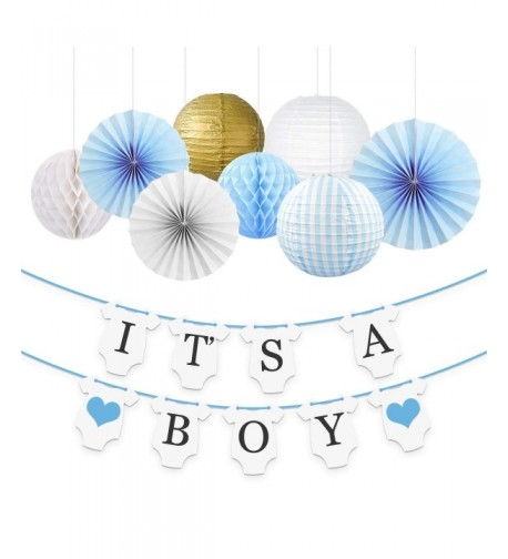 NICROLANDEE Baby Shower Decorations Boy