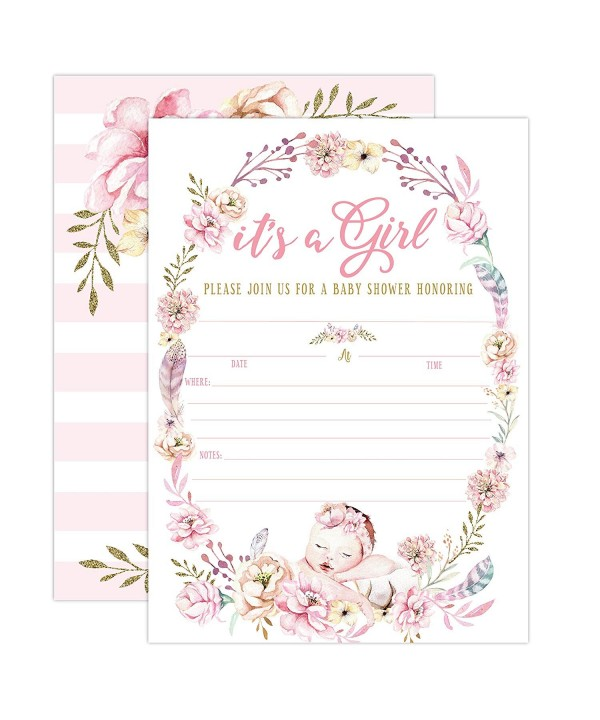 Invitations Invites Butterfly Whimsical Envelopes