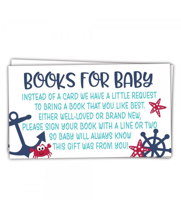 Nautical Books Shower Request Cards