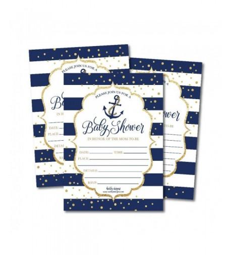 Nautical Invitations Sprinkle Printable Supplies