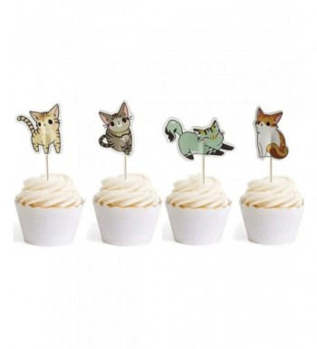 Cupcake Toppers Birthday Decorations Bilipala