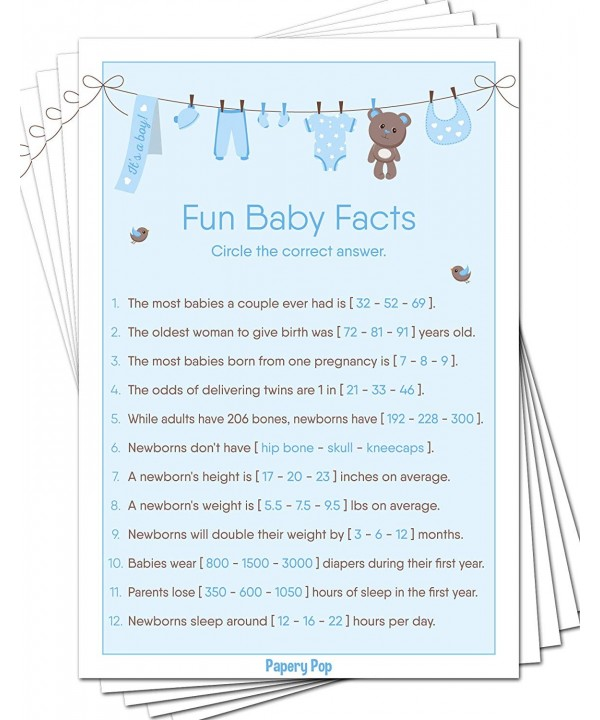 Baby Facts Game Cards Pack