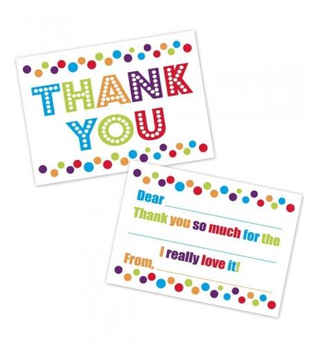 Colorful Confetti Polka Thank Cards