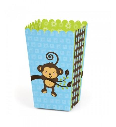 Blue Monkey Boy Birthday Popcorn