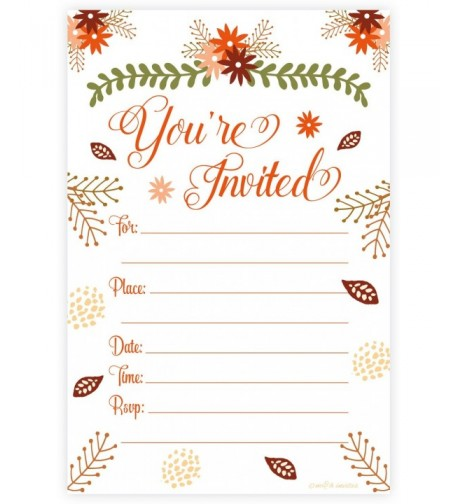 Fall Theme Fill Invitations Engagement
