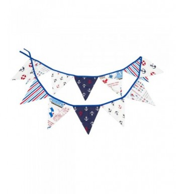 LOVENJOY Cotton Nautical Pennant Birthday