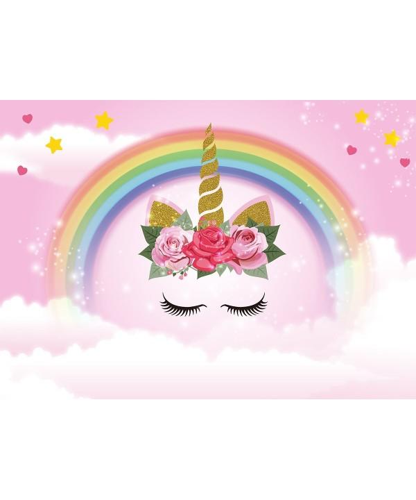 Unicorn Backdrop Birthday Background Dessert